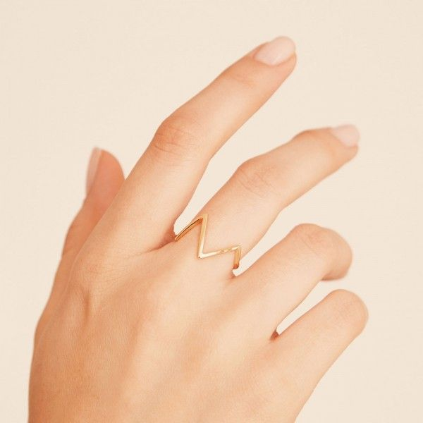 Mounty gold ring hand