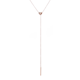 Nora rose gold necklace