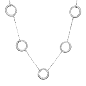 Collar plata Crystal