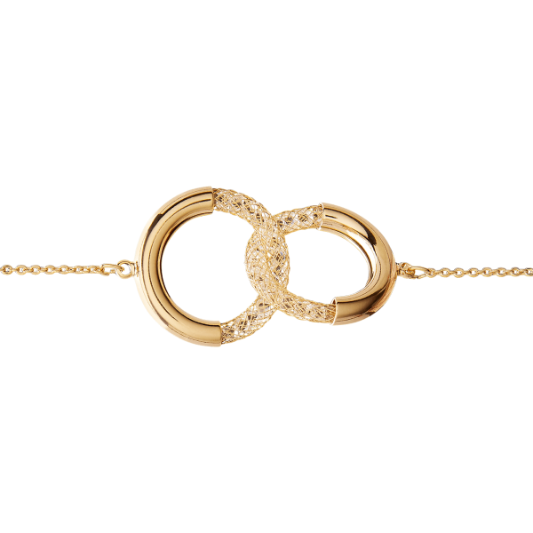 Eternity gold necklace detail