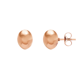 Bean rose gold earrings
