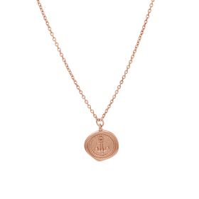 Anchor rose gold necklace