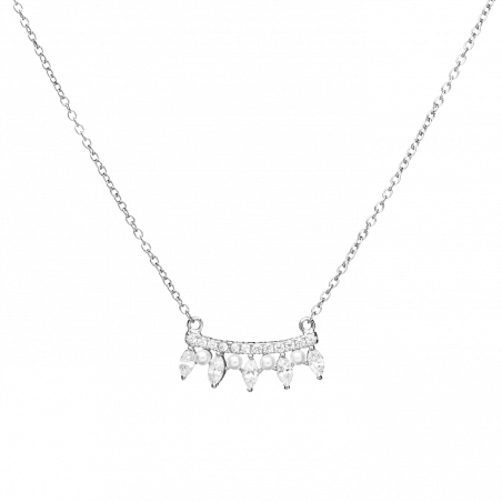 Becca silver necklace
