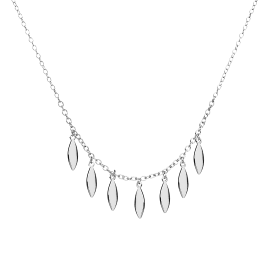 Drizzle silver necklace