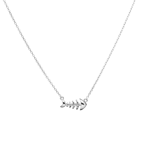 Pesce silver necklace