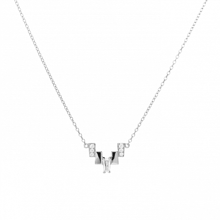 Tryst silver necklace