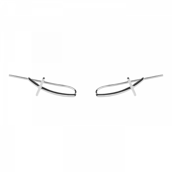 Crux Line silver earrings