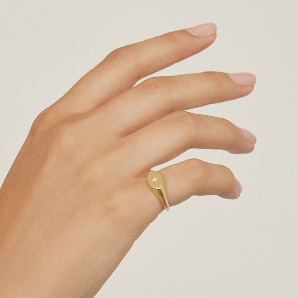 Star Signet ring gold sample 5