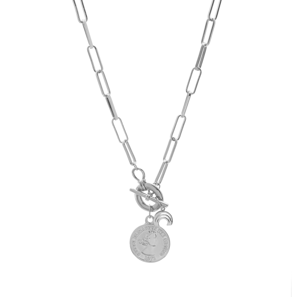 Freedom silver necklace
