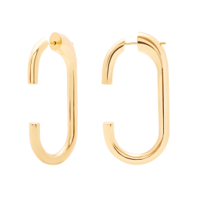 Links gold earrings