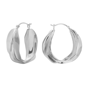 Savage silver hoops