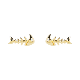 Fish gold earrings