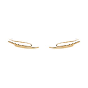 Flow gold earrings