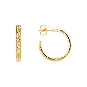 Halo gold earrings