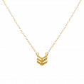 Down gold necklace