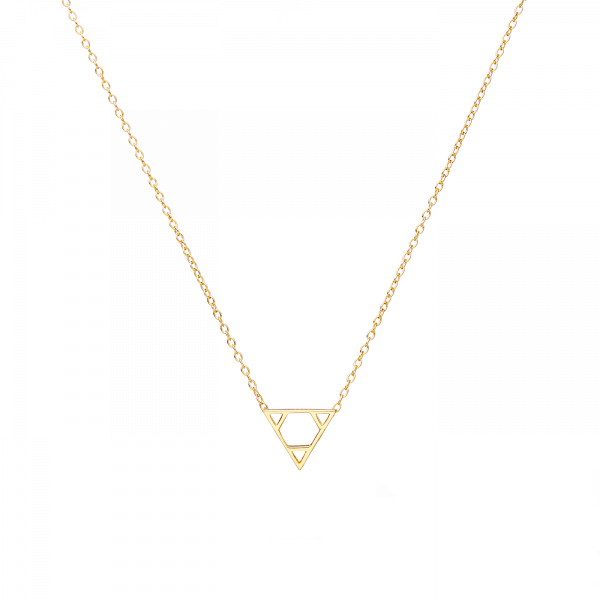 Euclid gold necklace