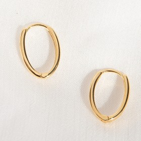 Lite gold hoops