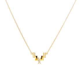 Tryst gold necklace