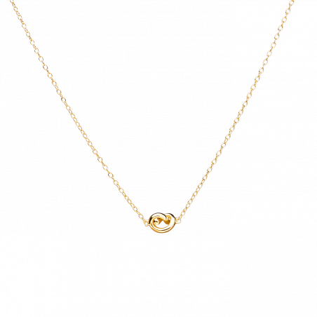 Twirl gold necklace