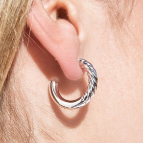 Silver hoop earrings Euphoria