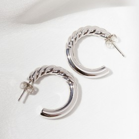 Silver hoop earrings Euphoria 2