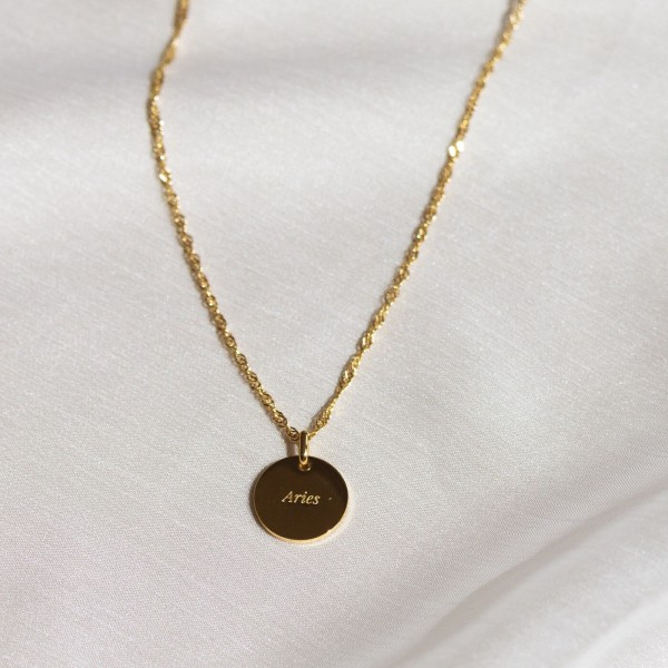 aries gold constellation necklace
