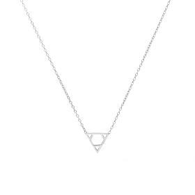 Euclid silver necklace