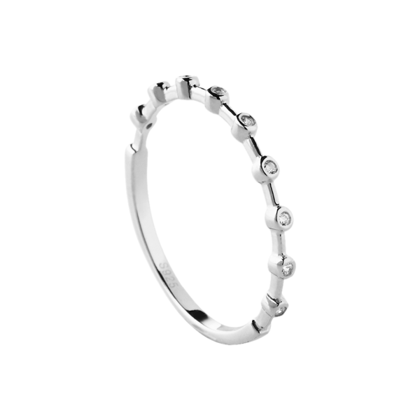 Dotty silver ring