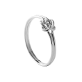 Double knot silver ring