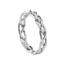 Braid silver ring