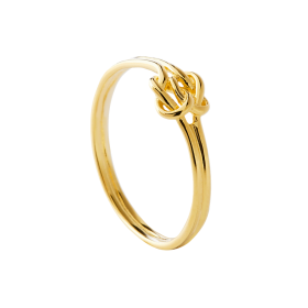 Double knot gold ring