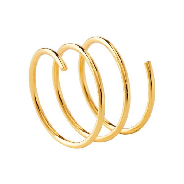 Whirl gold ring
